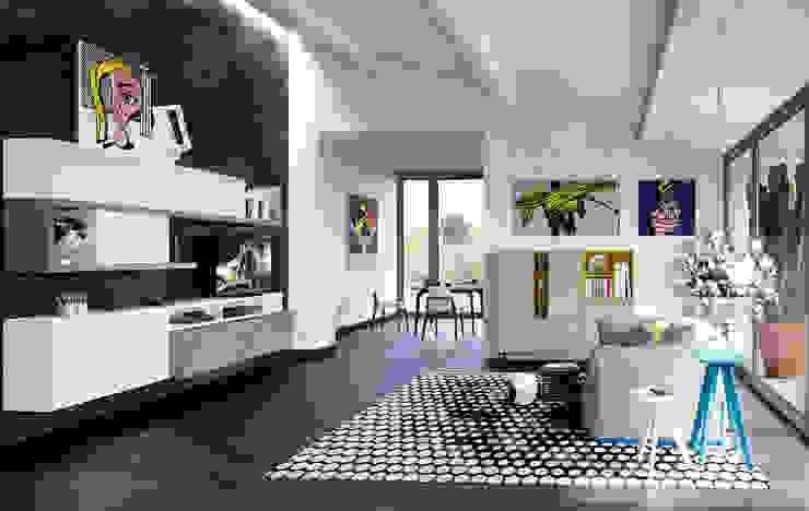 غرفة المعيشة تنفيذ Nespoli 3d,