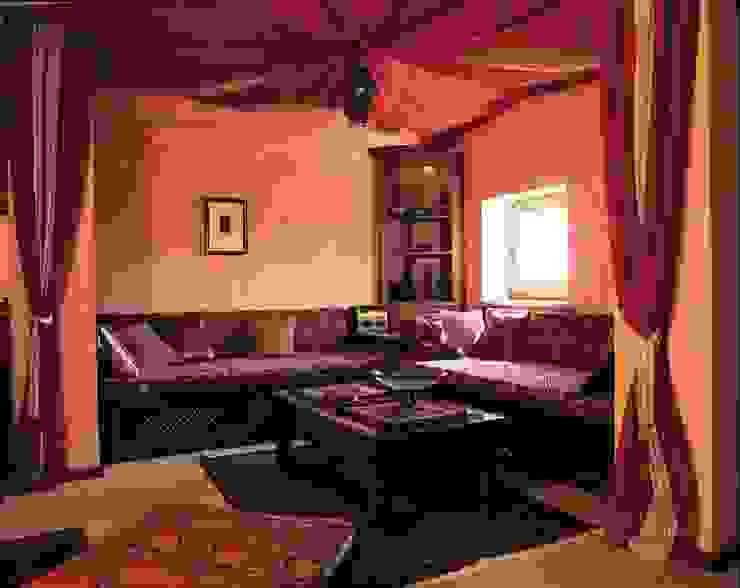 Французская колония Медиа комната в колониальном стиле от ANIMA Колониальный