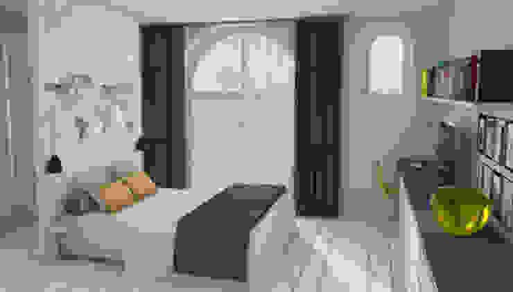 Chambre coté rue Chambre moderne par APMS architectes Moderne