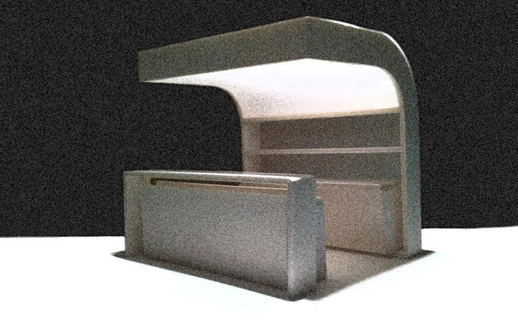 Prototipo de Barra de Bar para terraza Bares y clubs de estilo minimalista de Rubén Couso Minimalista