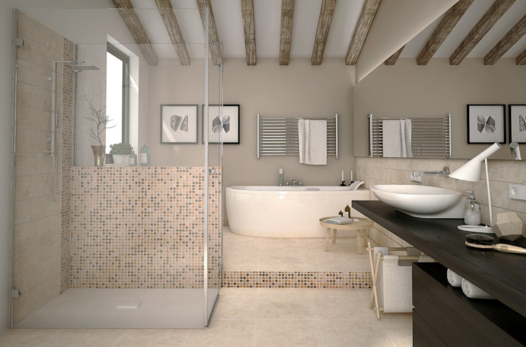 Classic style bathroom by RenderLab Classic