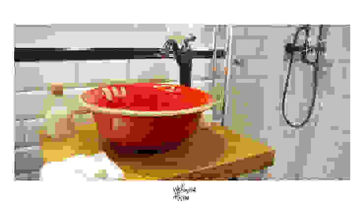 umywalka Eklektyczna łazienka od dekornia Eklektyczny