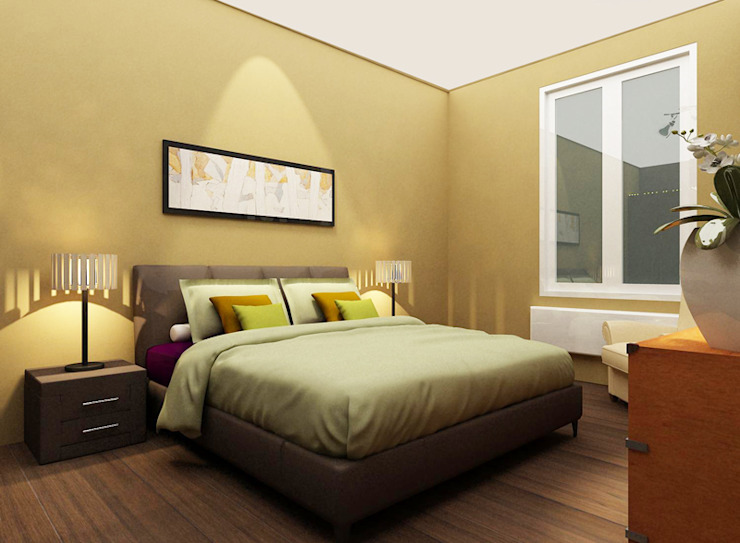 Modern Bedroom by Aileen Martinia interior design - Amsterdam Modern Wood Wood effect