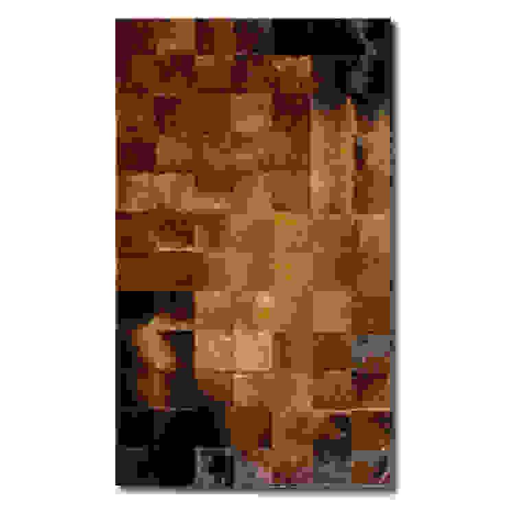 WEINBAUMS Patchworkteppich aus Kuhfell braun (in fünf Größen von S bis XXL) homify Wände & BodenTeppiche und Läufer Leder Braun