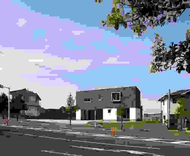 T2-house モダンな 家 の SO-DESIGN建築設計室 モダン ゴム