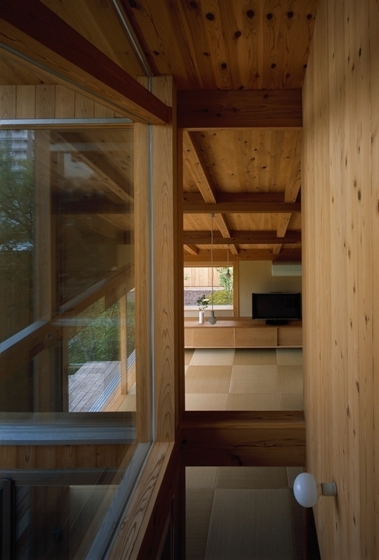 庭つくりの家 オリジナルデザインの リビング の 神谷建築スタジオ オリジナル
