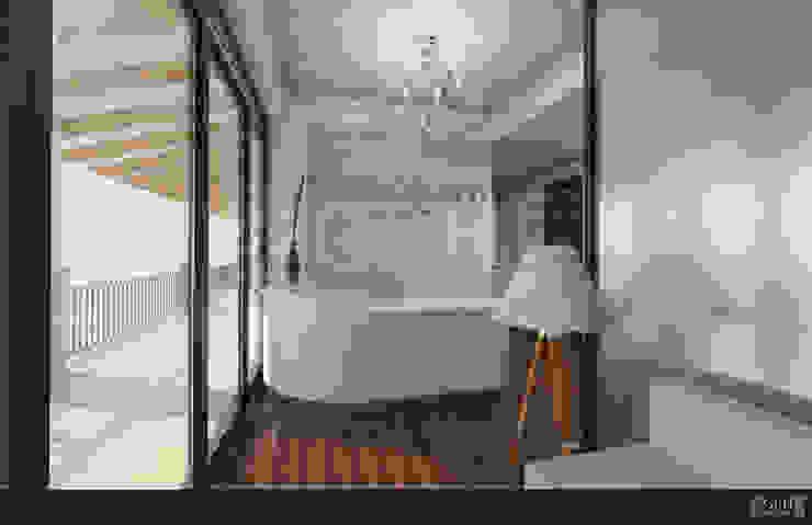 LAURA CALZADA SALÓN Espacios comerciales de estilo moderno de GRH Interiores Moderno Azulejos