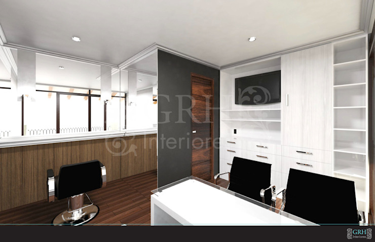 LAURA CALZADA SALÓN de GRH Interiores Moderno Derivados de madera Transparente