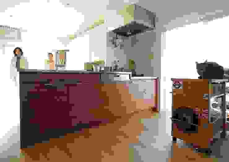 中古マンションのスケルトンリフォーム(東京 足立) オリジナルデザインの キッチン の Style is Still Living ,inc. オリジナル
