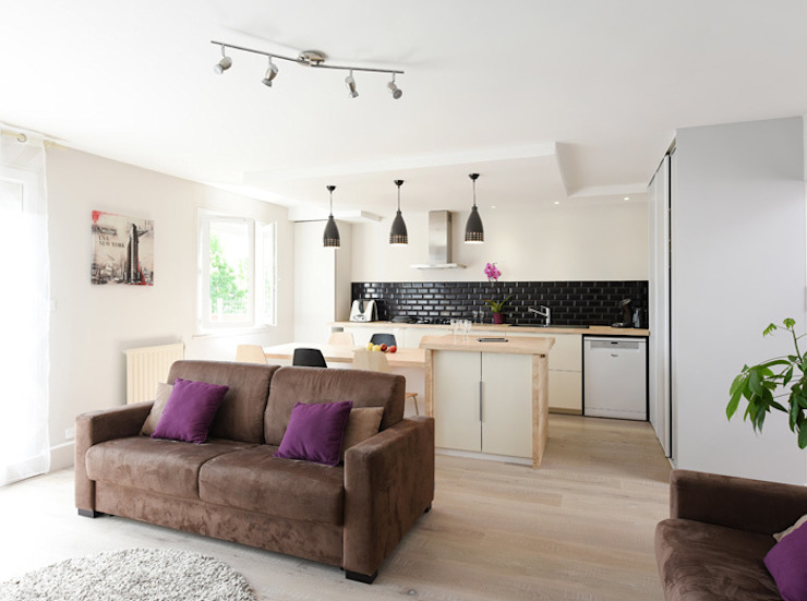 Modern living room by Marion Lanoë Architecte d'Intérieur Modern