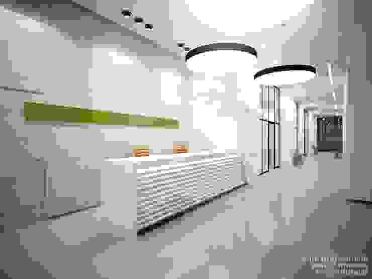 Холл, ресепшен Коридор, прихожая и лестница в стиле лофт от ART-INTERNO Лофт
