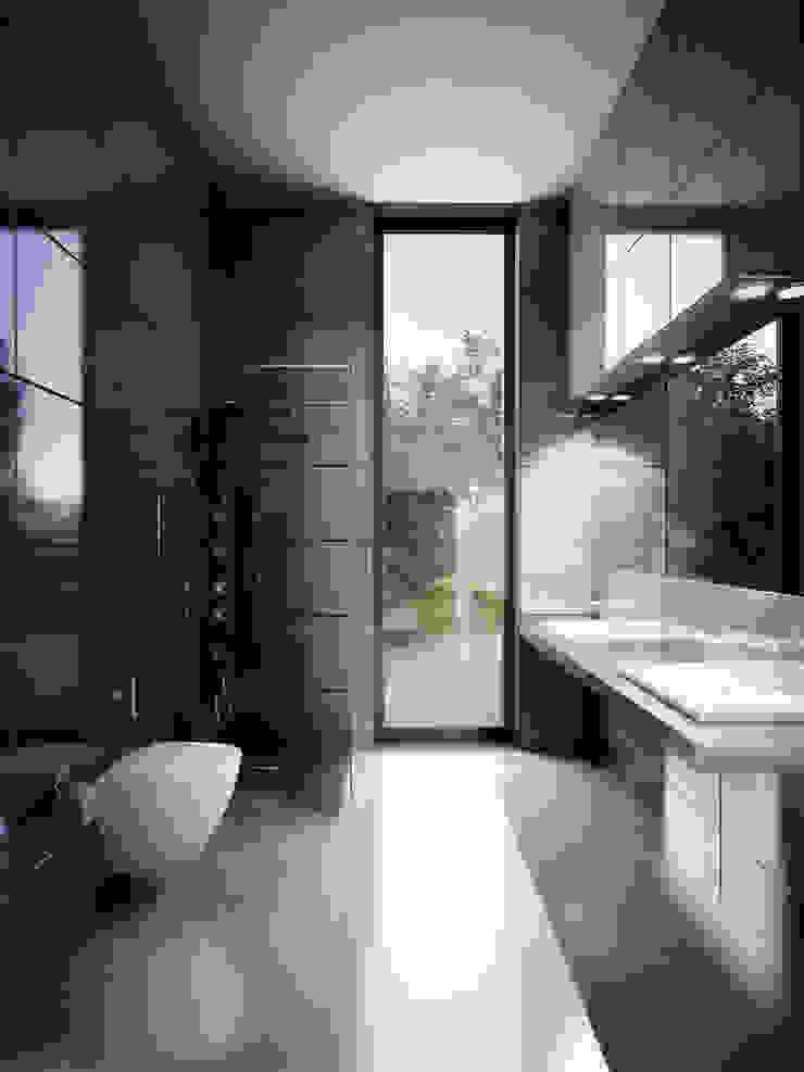 Концептуальный проект <q>Жилище с мотоциклами</q> Ванная комната в эклектичном стиле от Александр Б Эклектичный
