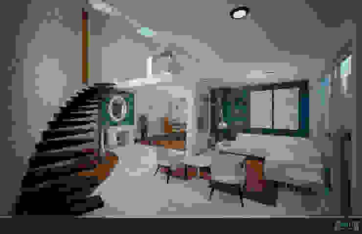 PROYECTO Medina Salones modernos de GRH Interiores Moderno Azulejos