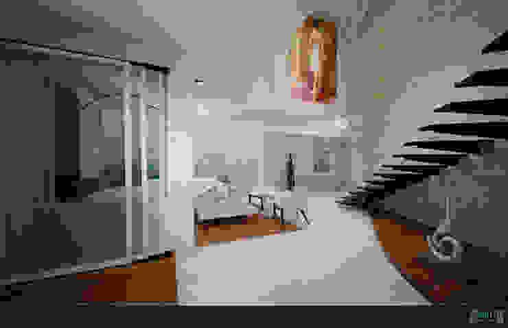 PROYECTO Medina Pasillos, vestíbulos y escaleras modernos de GRH Interiores Moderno Azulejos