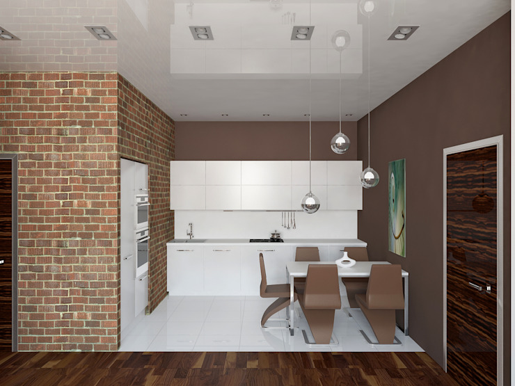 Industrial style kitchen by ООО 'Студио-ТА' Industrial