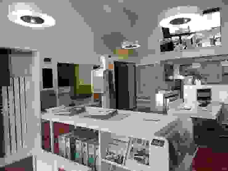 Showroom Cortina Técnica Las Rozas Oficinas y tiendas de estilo moderno de Luxaflex Concept Store Moderno