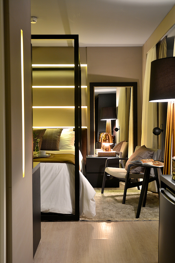Luxo Design Quartos modernos por Bibiana Menegaz - Arquitetura de Atmosfera Moderno