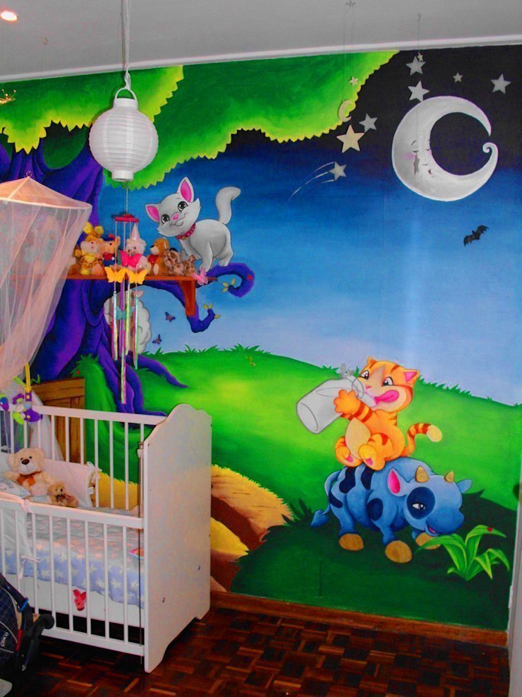 Nursery Wall Murals Banner Buzz Interior landscaping