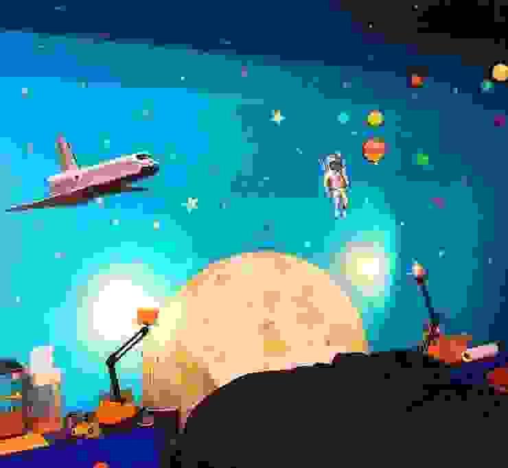 Space Wall Murals de Banner Buzz Moderno