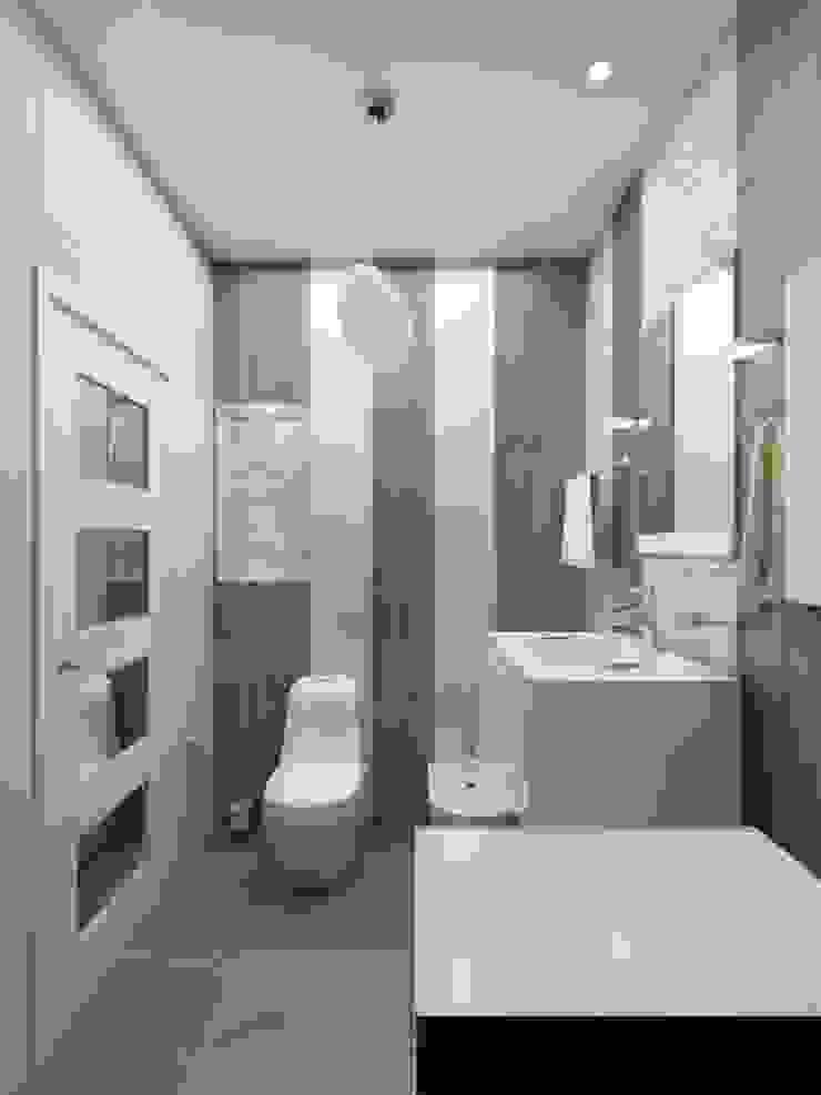 1-но комнатная квартира 61.15m² Ванная комната в стиле модерн от PLANiUM Модерн