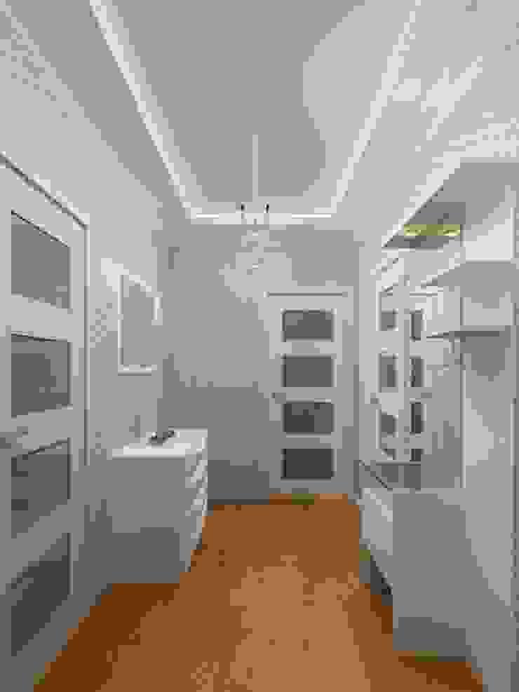 1-но комнатная квартира 61.15m² Коридор, прихожая и лестница в модерн стиле от PLANiUM Модерн