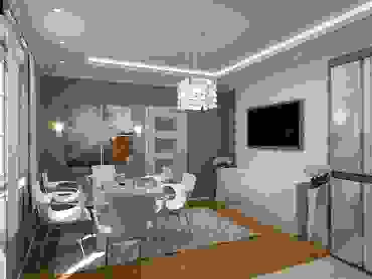 1-но комнатная квартира 61.15m² Кухня в стиле модерн от PLANiUM Модерн