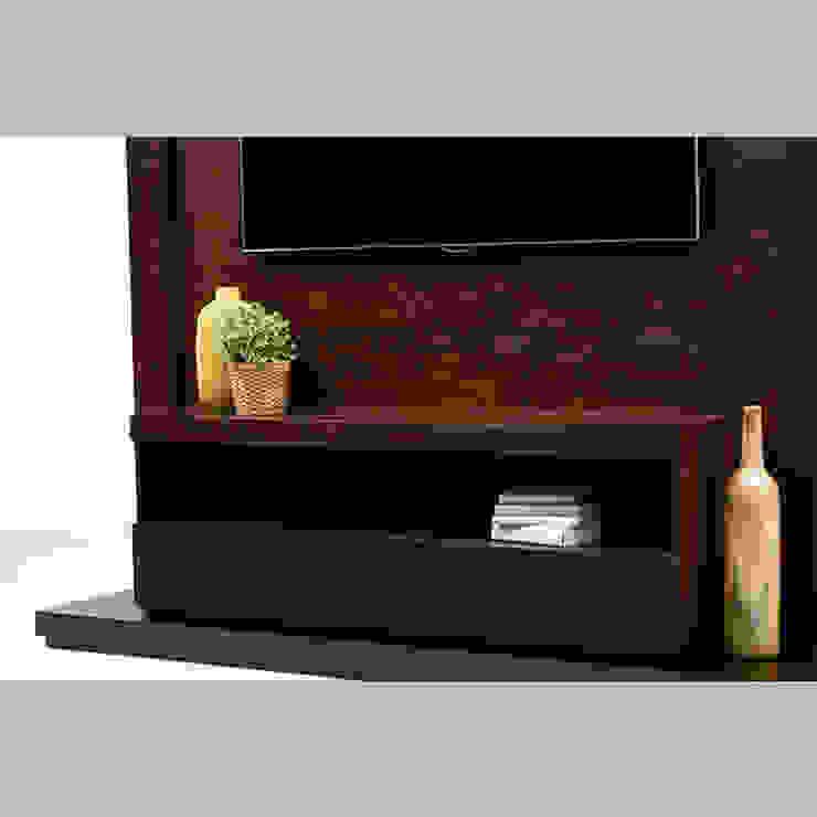 Mueble de TV enmarcado - acercamiento de MADERISTA Moderno Madera Acabado en madera