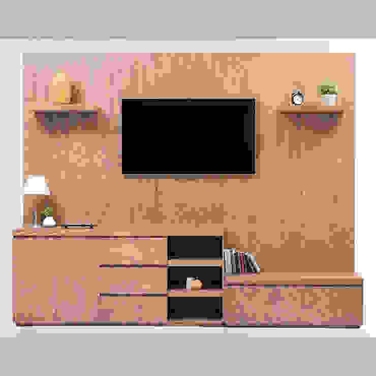 Mueble de TV con consola escalonada de MADERISTA Moderno Madera Acabado en madera