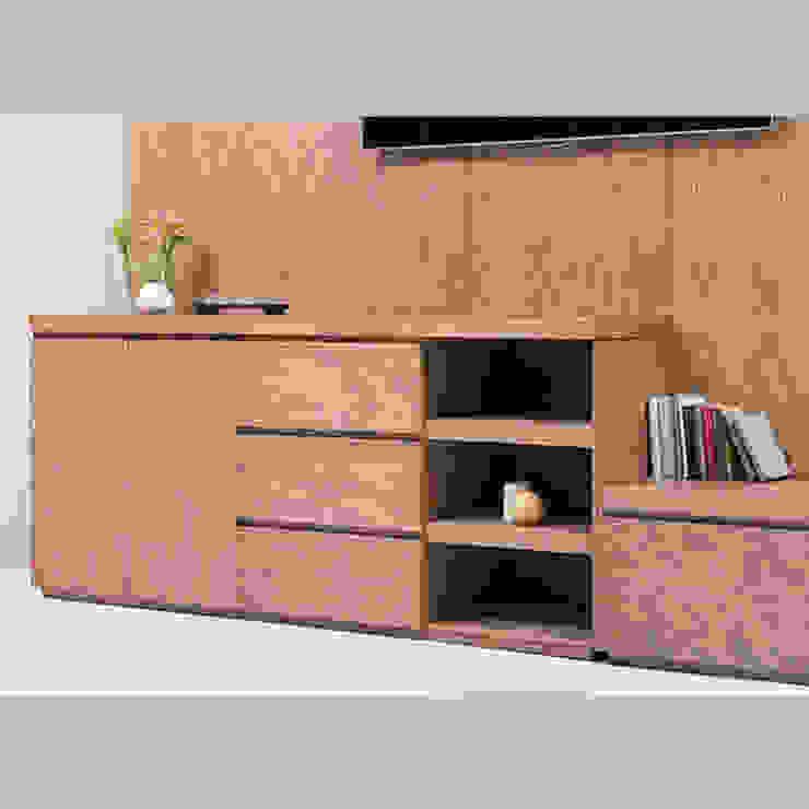 Mueble de TV con consola escalonada - acercamiento1 de MADERISTA Moderno Madera Acabado en madera