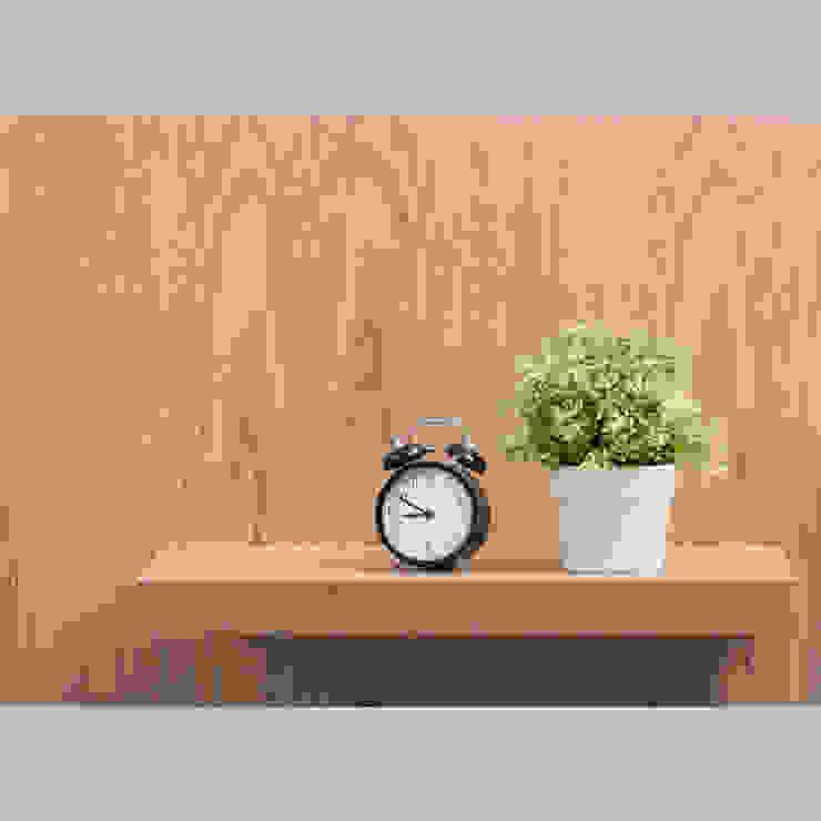 Mueble de TV con consola escalonada - acercamiento2 de MADERISTA Moderno Madera Acabado en madera