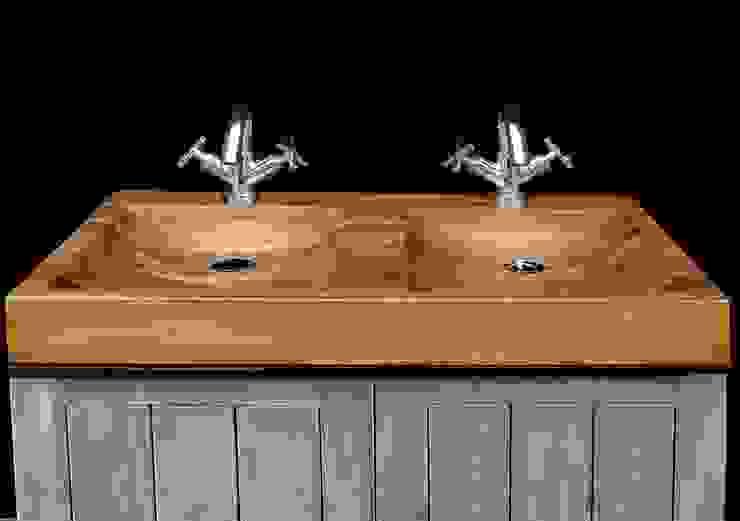 Wooden sinks collection Lux4home™. di homify Classico Legno Effetto legno