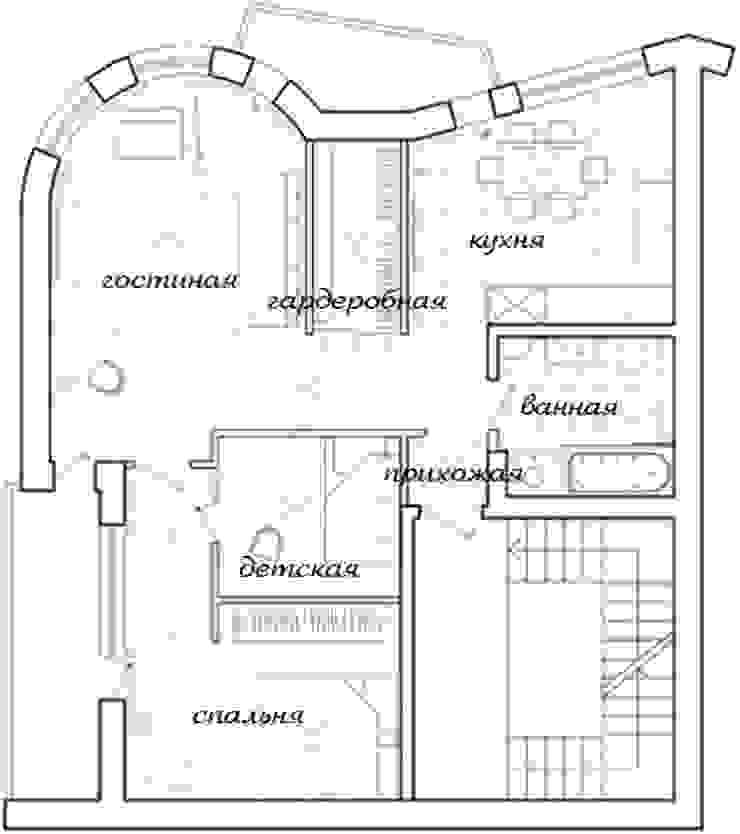 3-х комнатная квартира 75.40m² от PLANiUM Классический