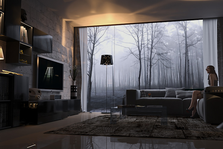 Salones de estilo moderno de dellaschiava Moderno
