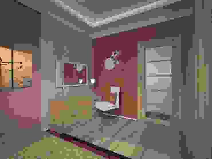 2-х комнатная квартира 54.42m² Спальня в азиатском стиле от PLANiUM Азиатский