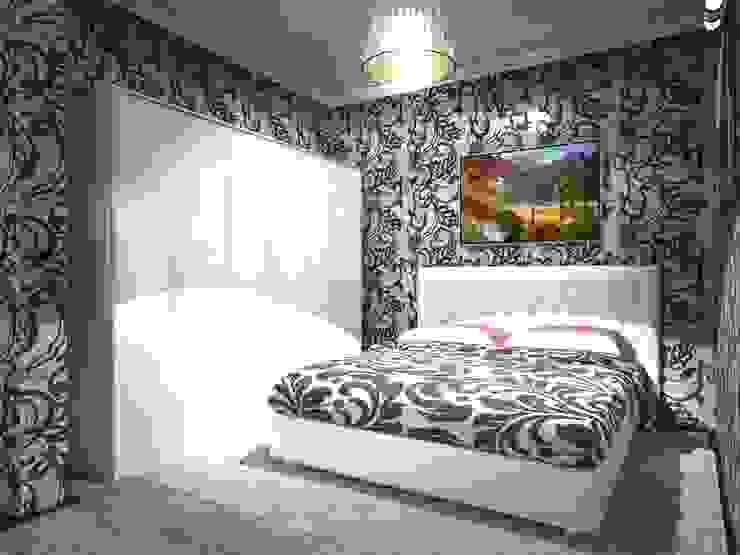 3-х комнатная квартира 75.40m² Спальня в классическом стиле от PLANiUM Классический