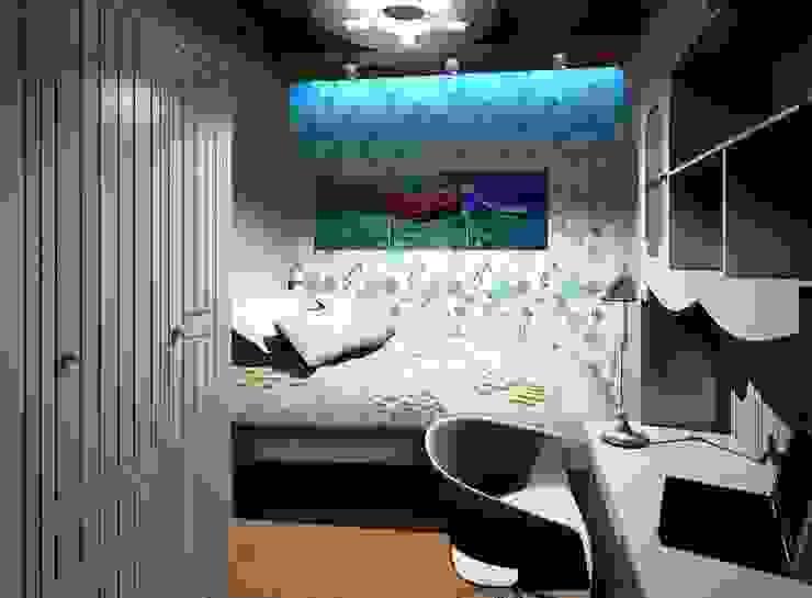 3-х комнатная квартира 75.40m² Детская комнатa в классическом стиле от PLANiUM Классический
