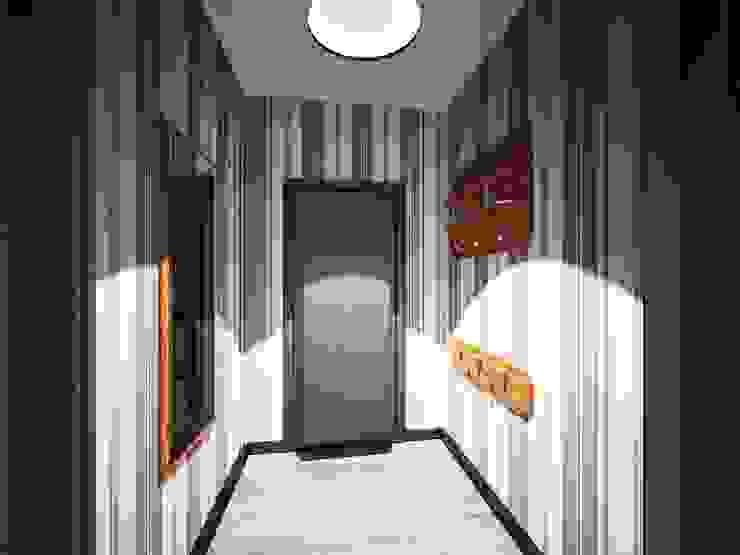 3-х комнатная квартира 75.40m² Коридор, прихожая и лестница в классическом стиле от PLANiUM Классический