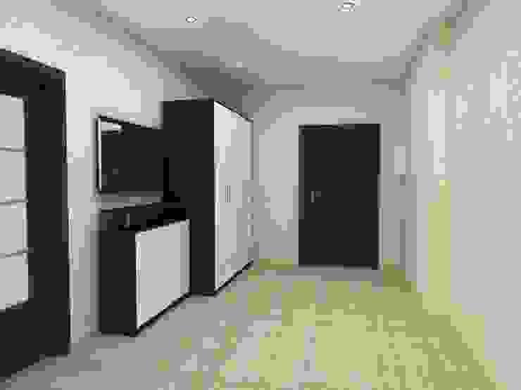 3-х комнатная квартира 112.60m² Коридор, прихожая и лестница в модерн стиле от PLANiUM Модерн