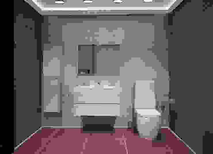 3-х комнатная квартира 75.40m² Ванная комната в стиле модерн от PLANiUM Модерн