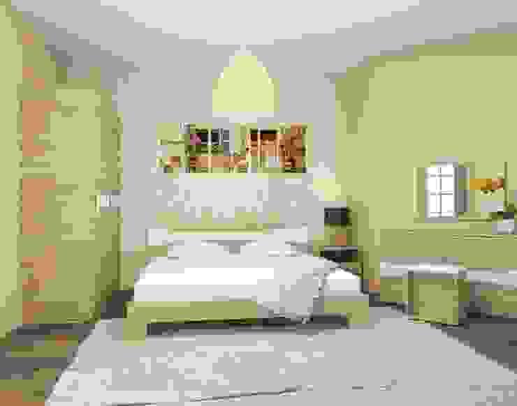 3-х комнатная квартира 112.60m² Спальня в скандинавском стиле от PLANiUM Скандинавский