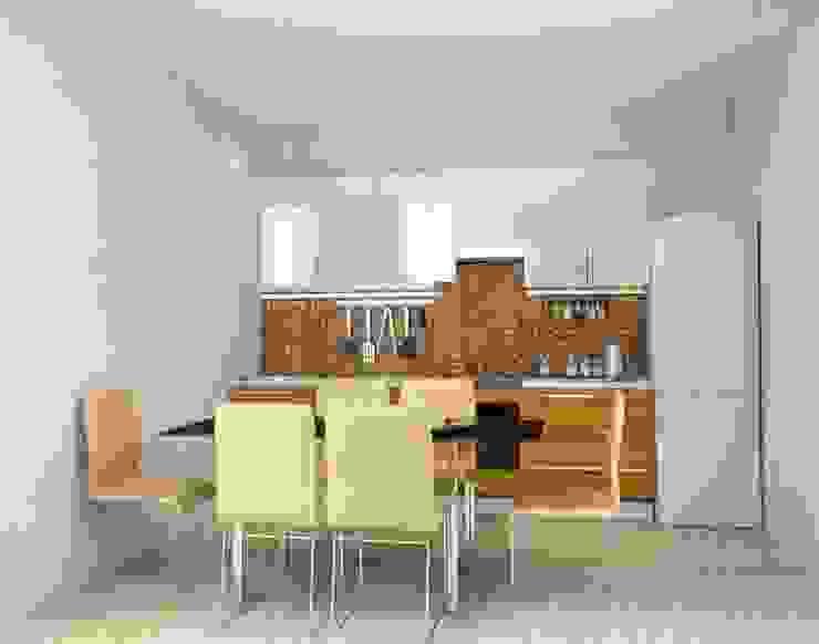 3-х комнатная квартира 112.60m² Кухня в тропическом стиле от PLANiUM Тропический