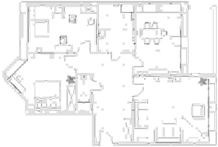 3-х комнатная квартира 112.60m² от PLANiUM Классический