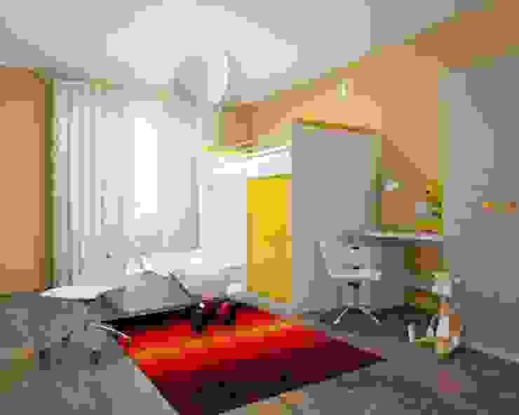 3-х комнатная квартира 112.60m² Детская комнатa в тропическом стиле от PLANiUM Тропический