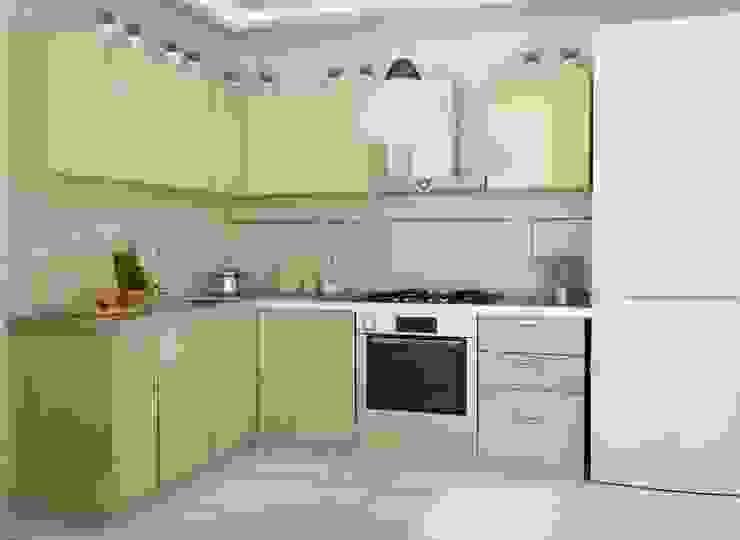 1-но комнатная квартира 51.95m² Кухня в классическом стиле от PLANiUM Классический