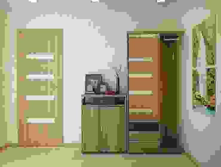 1-но комнатная квартира 51.95m² Коридор, прихожая и лестница в классическом стиле от PLANiUM Классический