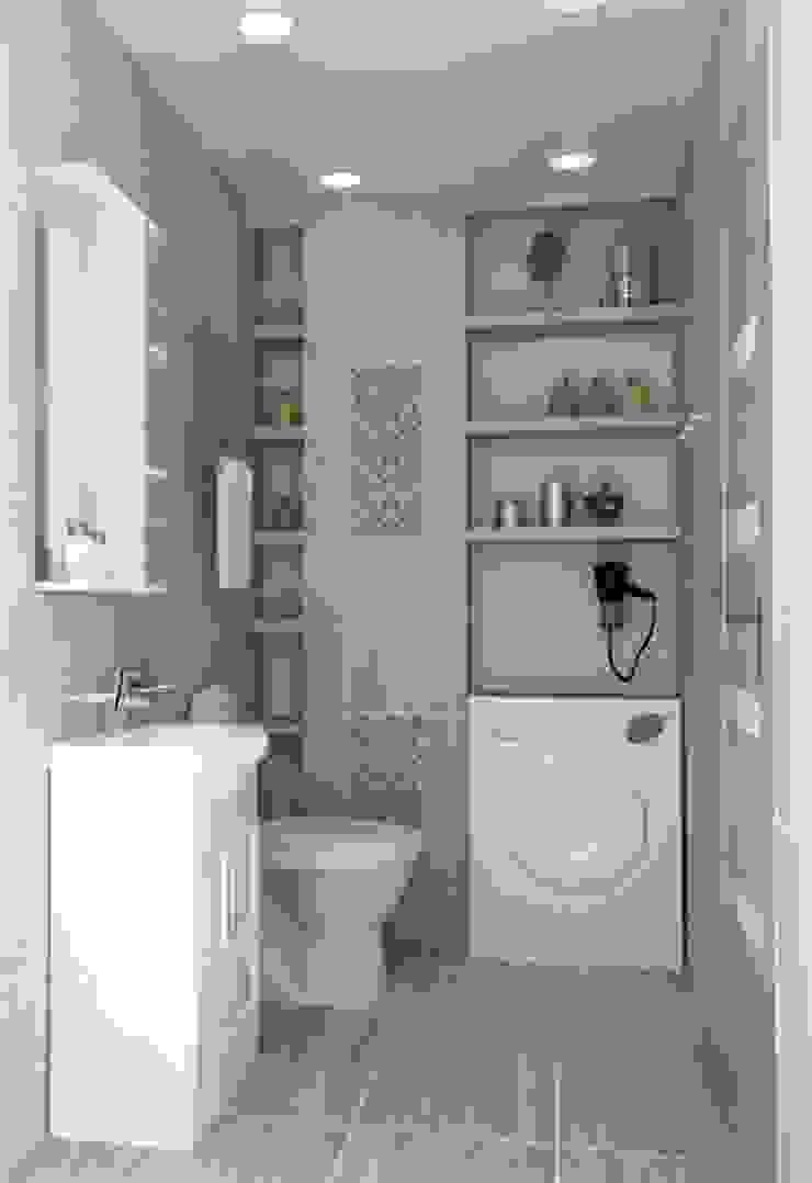 1-но комнатная квартира 51.95m² Ванная в классическом стиле от PLANiUM Классический