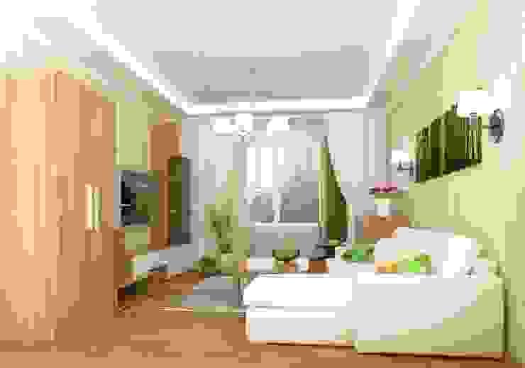 1-но комнатная квартира 51.95m² Гостиная в классическом стиле от PLANiUM Классический