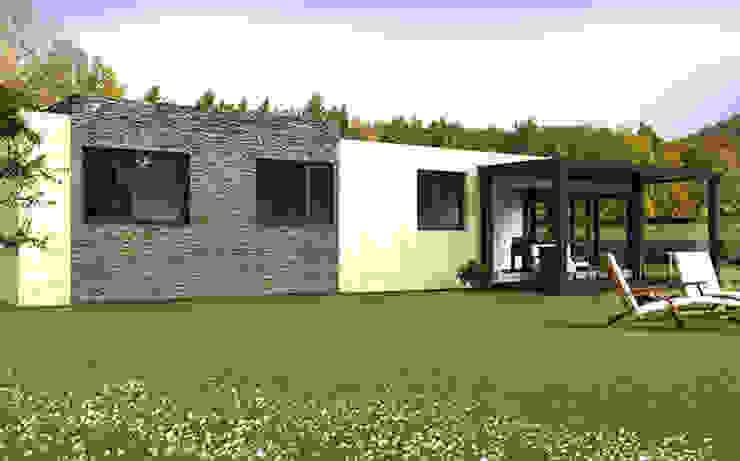 Casa Cube de 100 m2 Casas de estilo moderno de Casas Cube Moderno