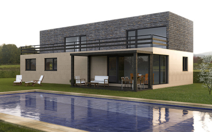 Casa Cube de 200 m2 Casas de estilo moderno de Casas Cube Moderno