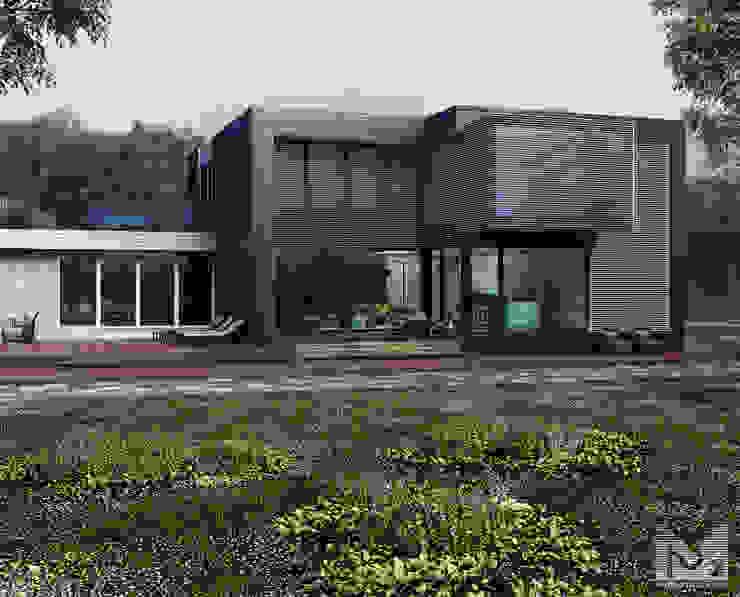 загородный дом 250м2 Дома в скандинавском стиле от ALEXANDER ZHIDKOV ARCHITECT Скандинавский Дерево Эффект древесины